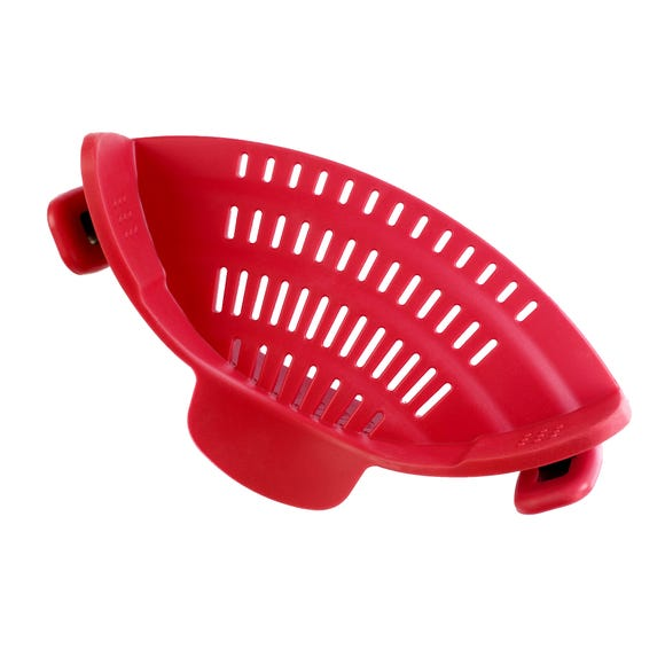 Handy Kitchen Red Pan Strainer Red