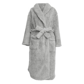 Teddy Bear Grey Dressing Gown