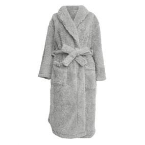 Teddy Bear Grey Dressing Gown