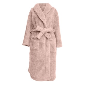 Teddy Bear Blush Pink Dressing Gown