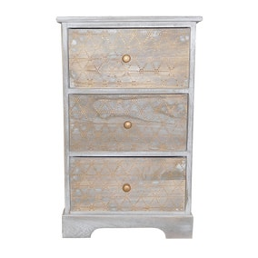 Wooden 3 Drawer Unit