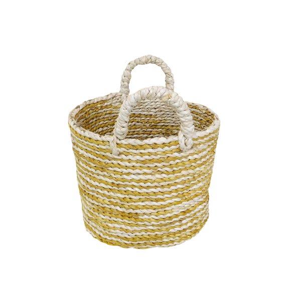 Elements Oval Ochre Stripe Basket  undefined