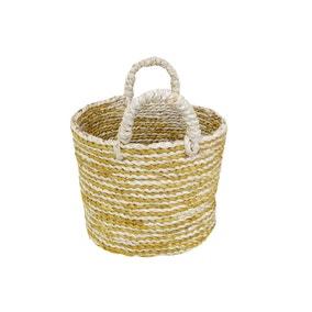 Elements Oval Ochre Stripe Basket