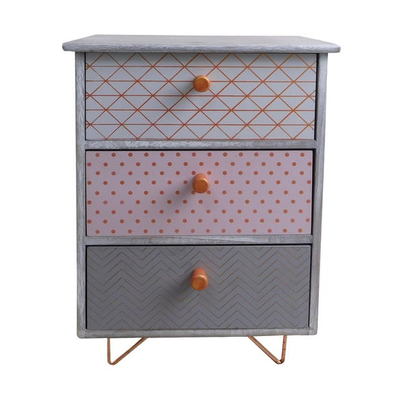 3 Drawer Accessory Tower Grey