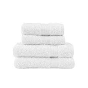 White Egyptian Cotton 4 Piece Towel Bale