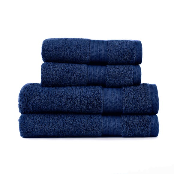 Navy Egyptian Cotton 4 Piece Towel Bale