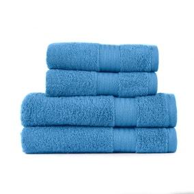 Cornflower Blue Egyptian Cotton 4 Piece Towel Bale