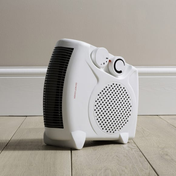 2000W Flat Fan Heater White