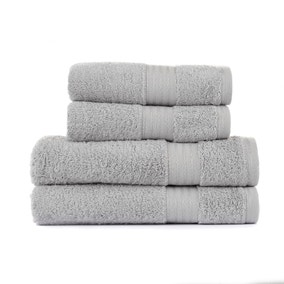 Silver Egyptian Cotton 4 Piece Towel Bale