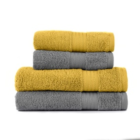 Mustard & Stone Egyptian Cotton 4 Piece Towel Bale