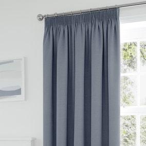 Tyla Denim Blackout Pencil Pleat Curtains
