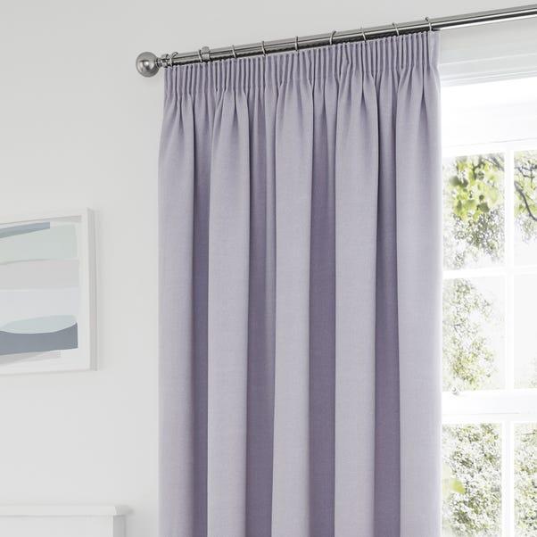 Tyla Mauve Blackout Pencil Pleat Curtains  undefined