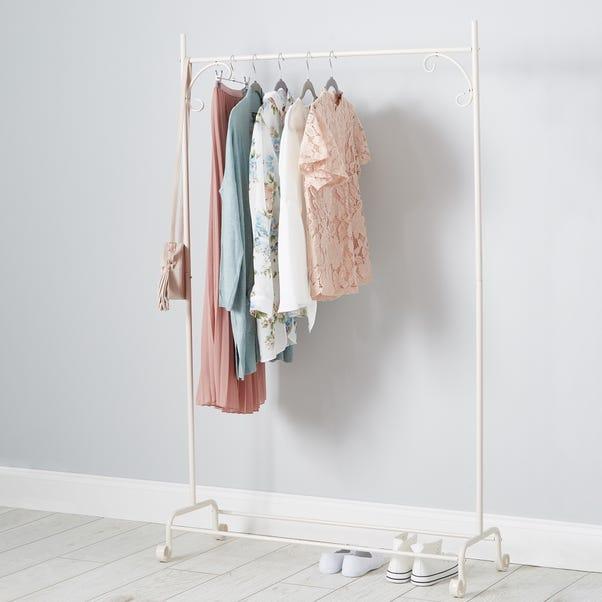 Cream Clothes Rail