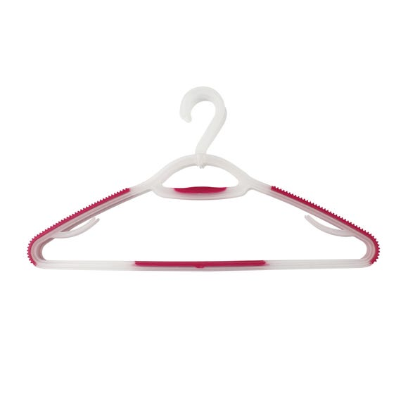 Pack Of 3 Soft Grip Hangers Clear