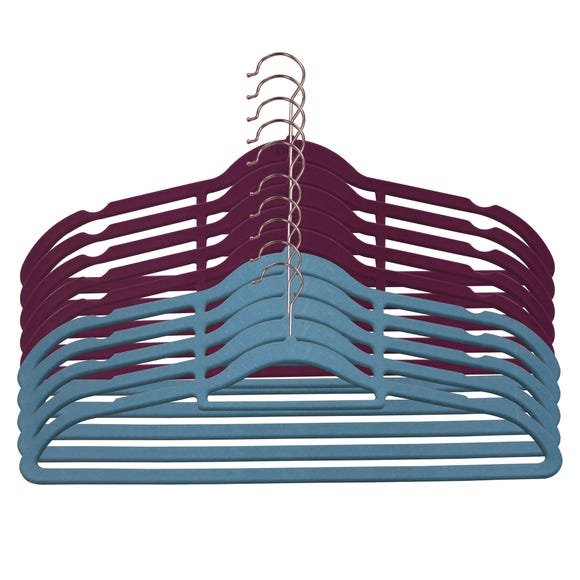 Pack Of 10 Copper Hangers Multi coloured