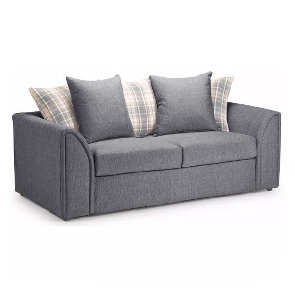 Nevada Fabric 3 Seater Sofa Dark Grey