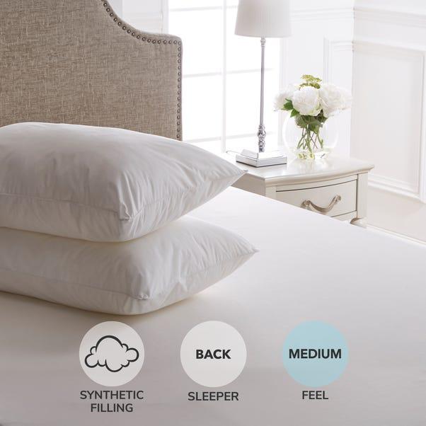 Dorma Sumptuous Medium Pillow Pair White