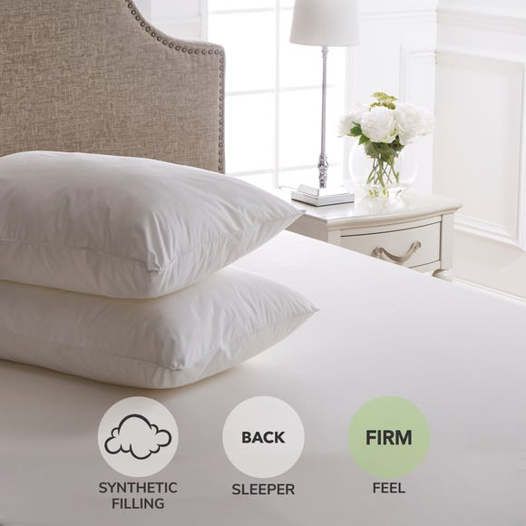 Dorma Sumptuous Down Like Firm-Support Pillow Pair White