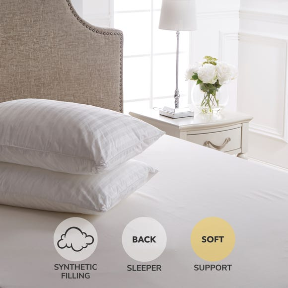 Dorma Supreme Fill Soft-Support Pillow Pair White