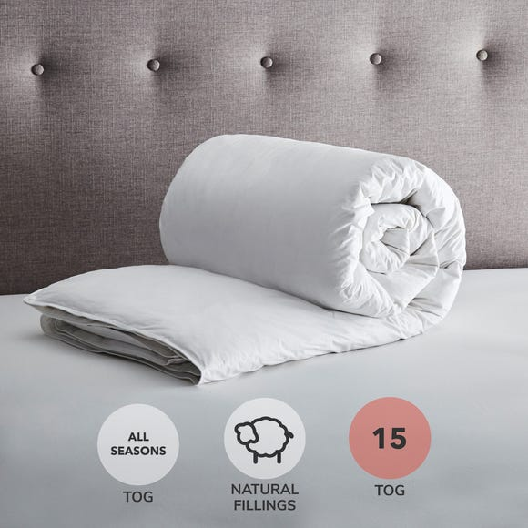 Fogarty White Duck Feather and Down All Seasons Duo 15 Tog Duvet  undefined