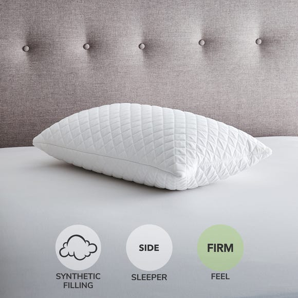 Super Comfort Quilted Foam Firm-Support Pillow White