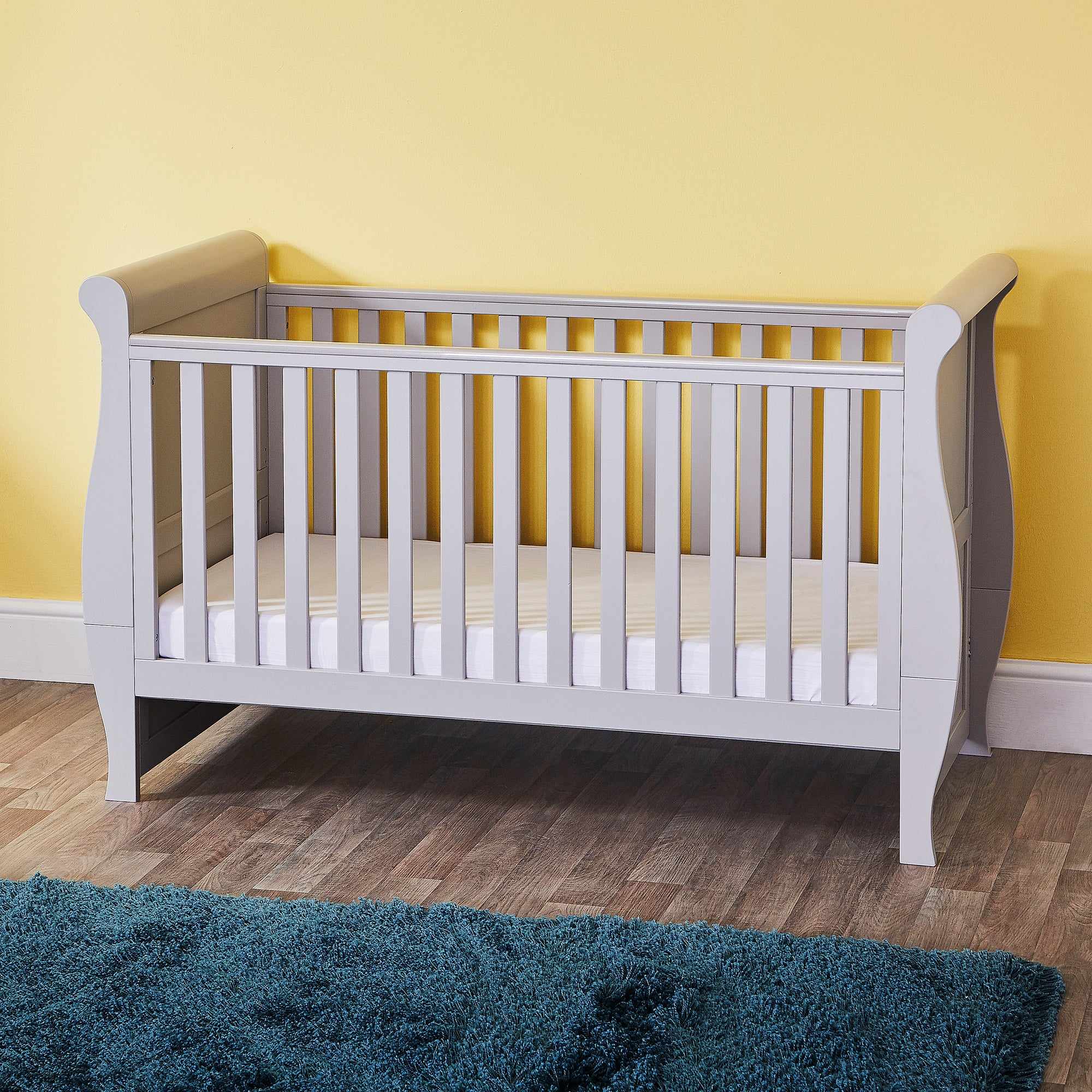 Photo of Oxfordshire sleigh grey cot bed grey