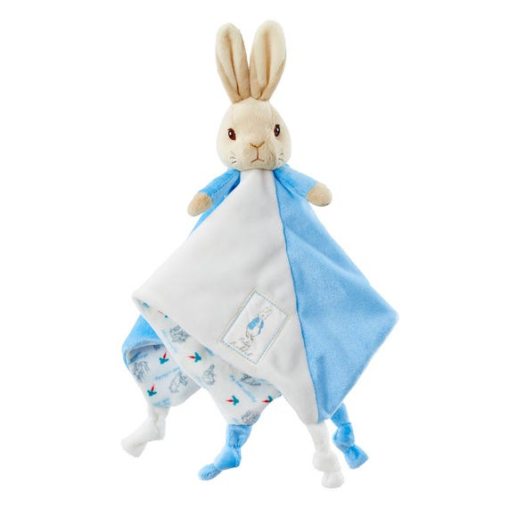 Peter Rabbit Rattle and Comfort Blanket Gift Set MultiColoured