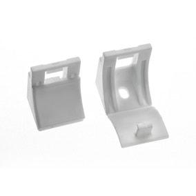 Swish Minima Pack of Five White Plastic Wall Brackets