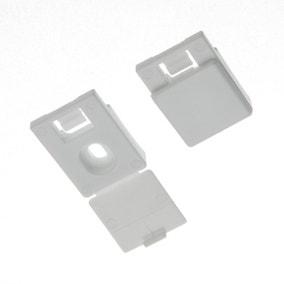 Swish Minima Pack of Five White Plastic Ceiling Brackets
