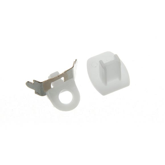 Swish Minima Pack of Two Plastic End Caps and End Stops White