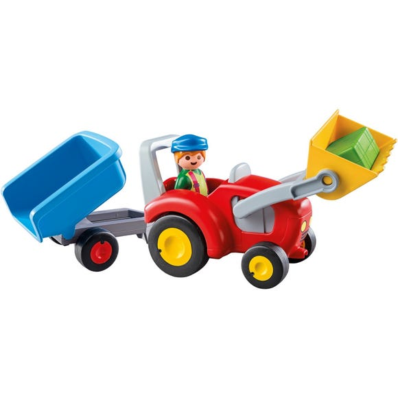 Playmobil 123 Tractor with Trailer MultiColoured