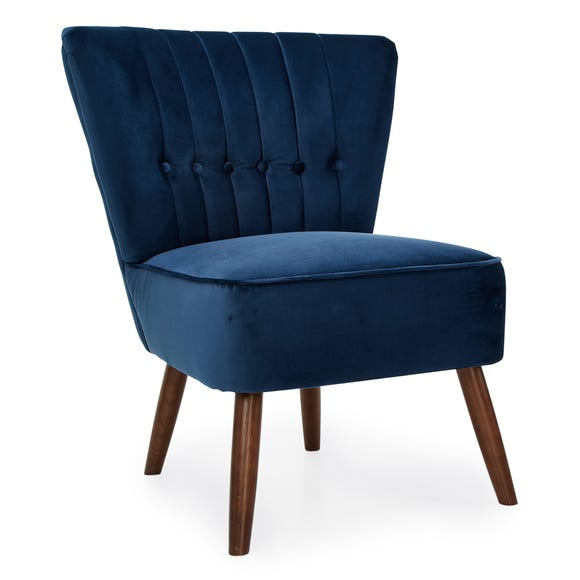 Isla Velvet Cocktail Chair - Midnight Midnight Blue Isla
