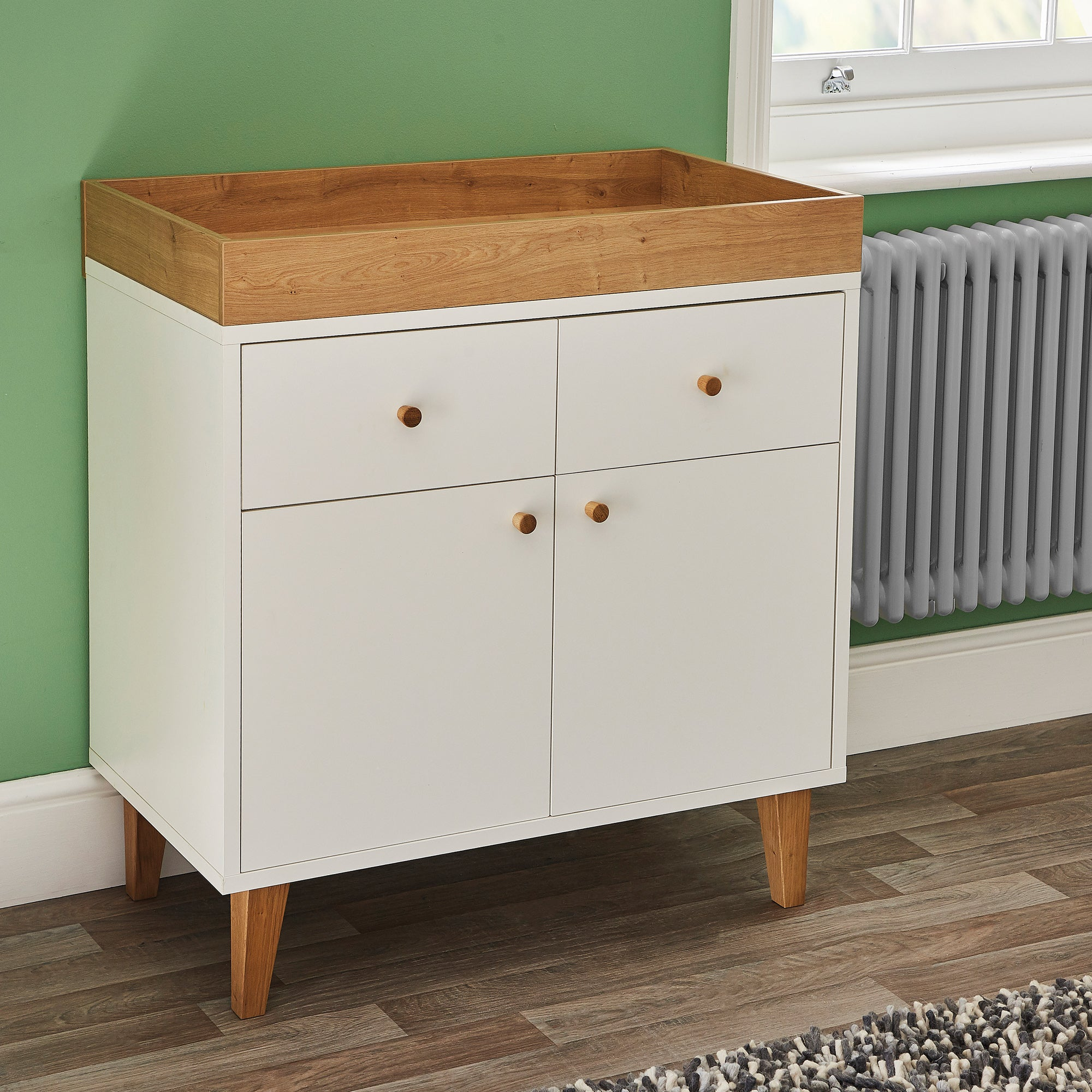 Photo of Scandi white changing unit white