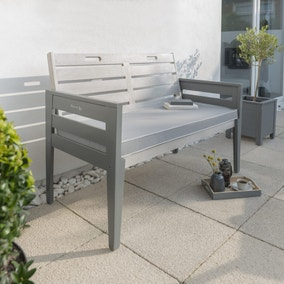 Florenity Grigio 2 Seater Cushioned Bench