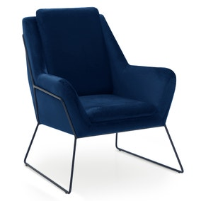 Ferne Metal Framed Chair - Midnight