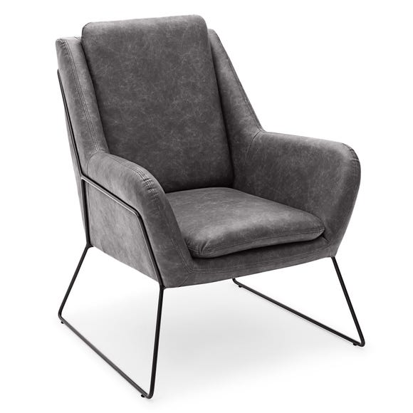 Ferne Metal Framed Chair - Grey