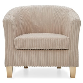Melton Jumbo Cord Tub Chair - Mink