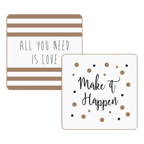 Pack Of 4 Glam Coasters MultiColoured