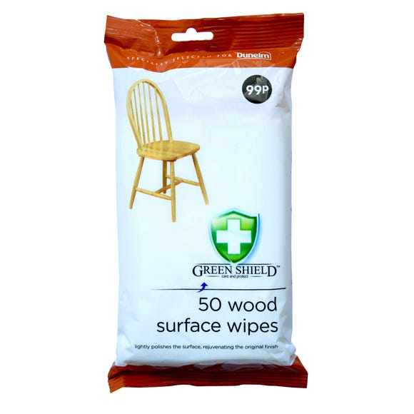 Pack 50 Wood Surface Wipes White