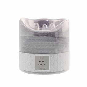 Hygge Soft Suede Multi Wick LED Candle
