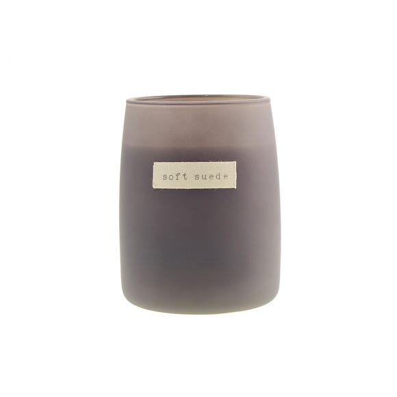 Hygge Soft Suede Candle Grey