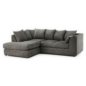 Chicago Jumbo Cord Left Hand Corner Sofa