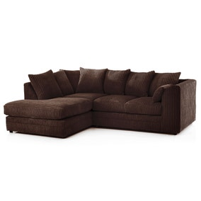 Chicago Jumbo Cord Left Hand Corner Sofa