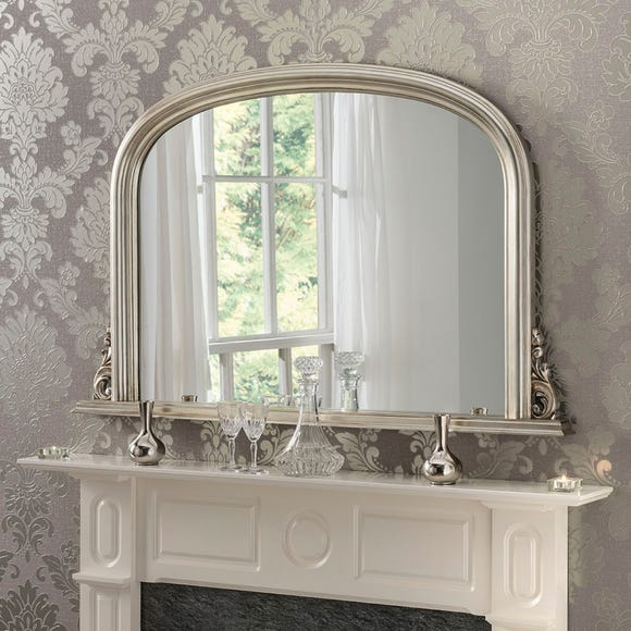 Yearn Decorative Overmantle Mirror 122x77cm Silver Silver