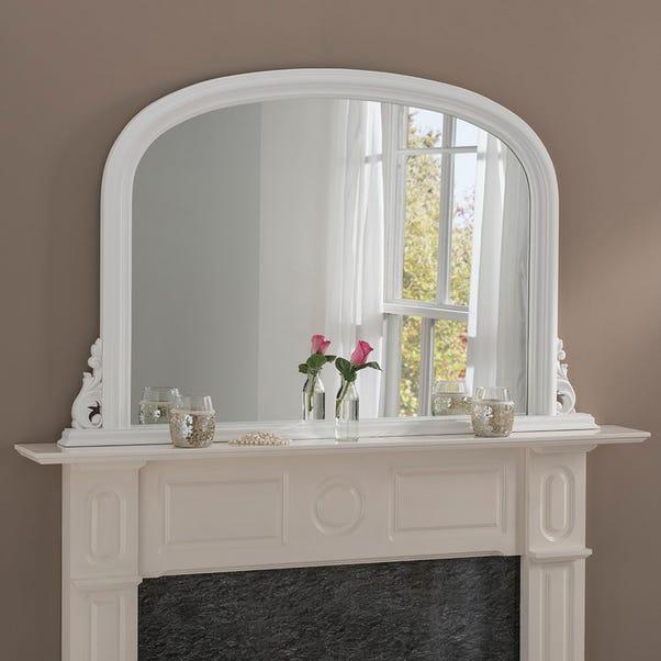 Yearn Decorative Overmantle Mirror 122x77cm White White
