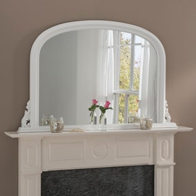 Yearn Decorative Overmantle Mirror 122x77cm White