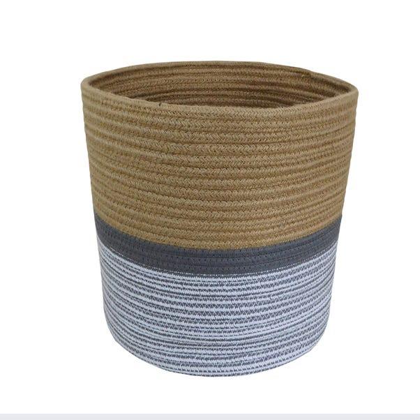 Large Monochrome Rope Basket