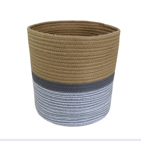 Large Monochrome Rope Basket