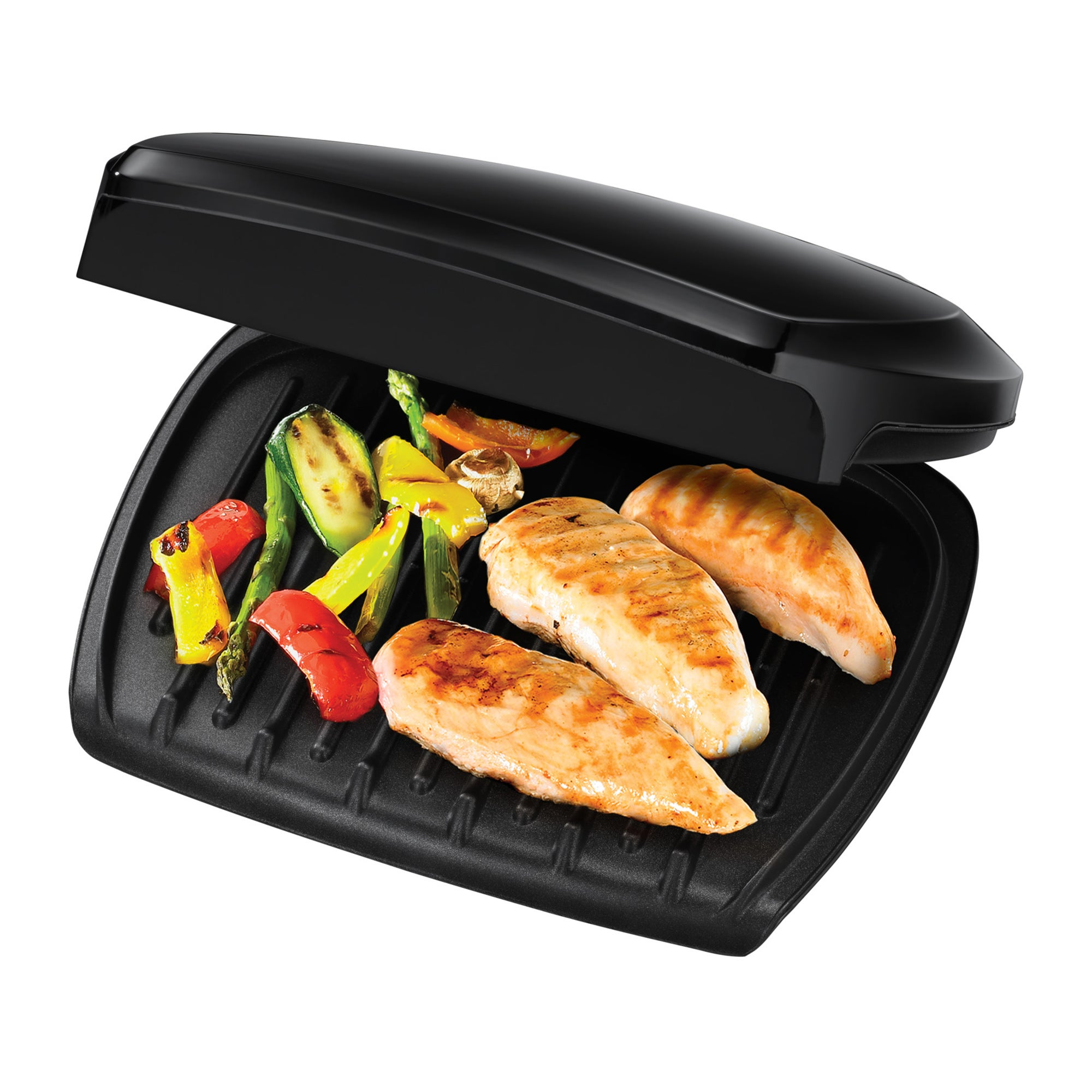 George Foreman George Foreman Family 5-Portion510 sq cm plate Grill 23420 - Black