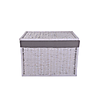 Medium White Wicker Storage Trunk White